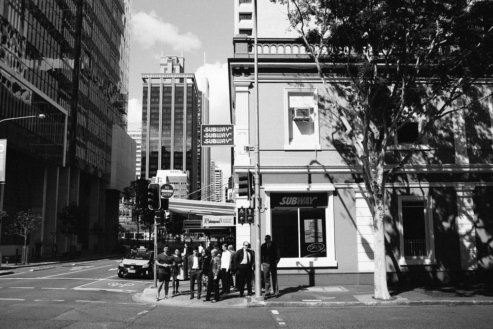Corporate city life.