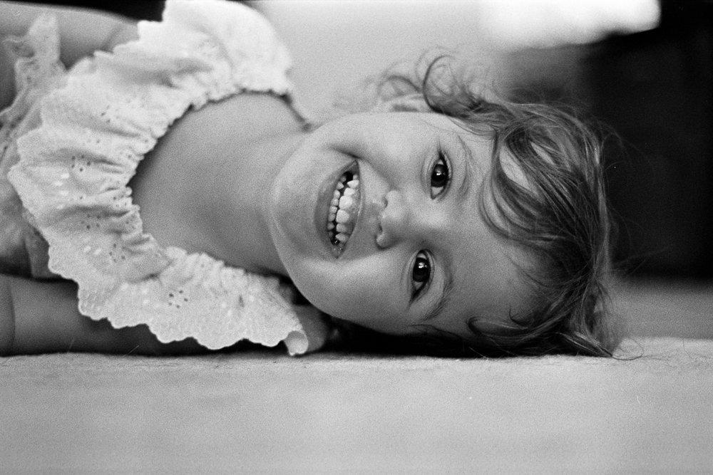 Hannah being silly. Kodak TRI-X.