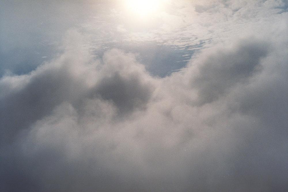 Clouds moving like smoke bombs.