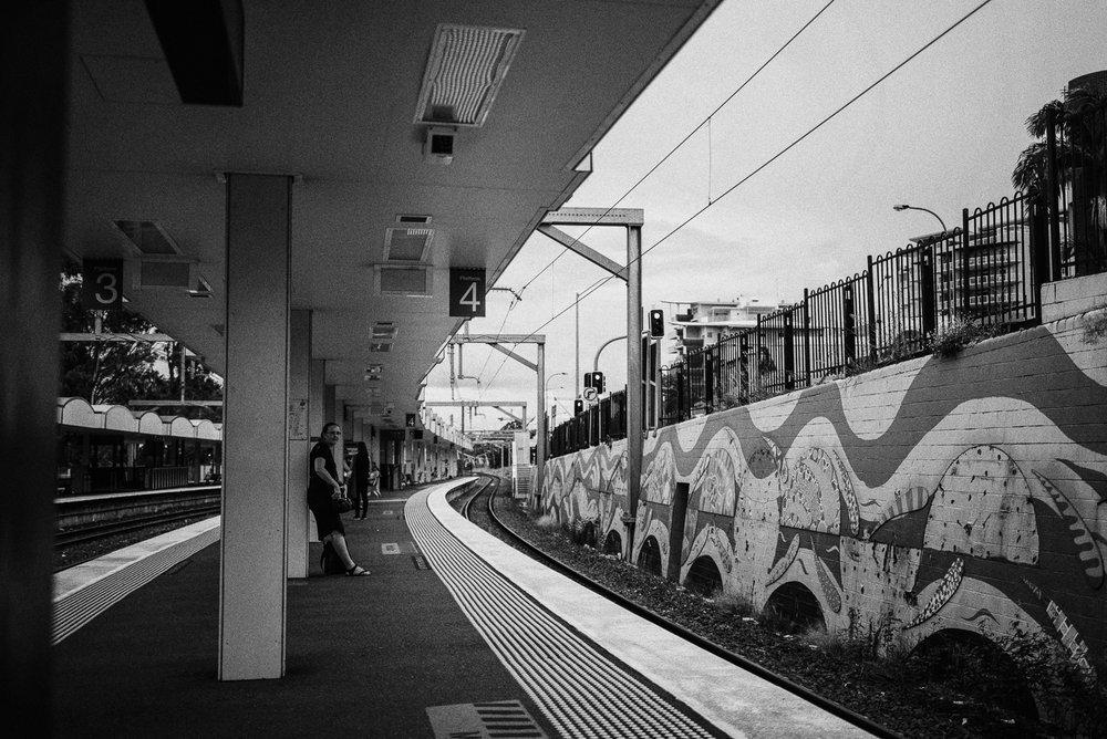 20170304_NightOut_165335-Edit-Nick-Bedford,-Photographer-Black and White, Brisbane, Leica M Typ 240, Silver Efex Pro, Train Station, Voigtlander 35mm F1.7 Ultron Asph, VSCO Film.jpg