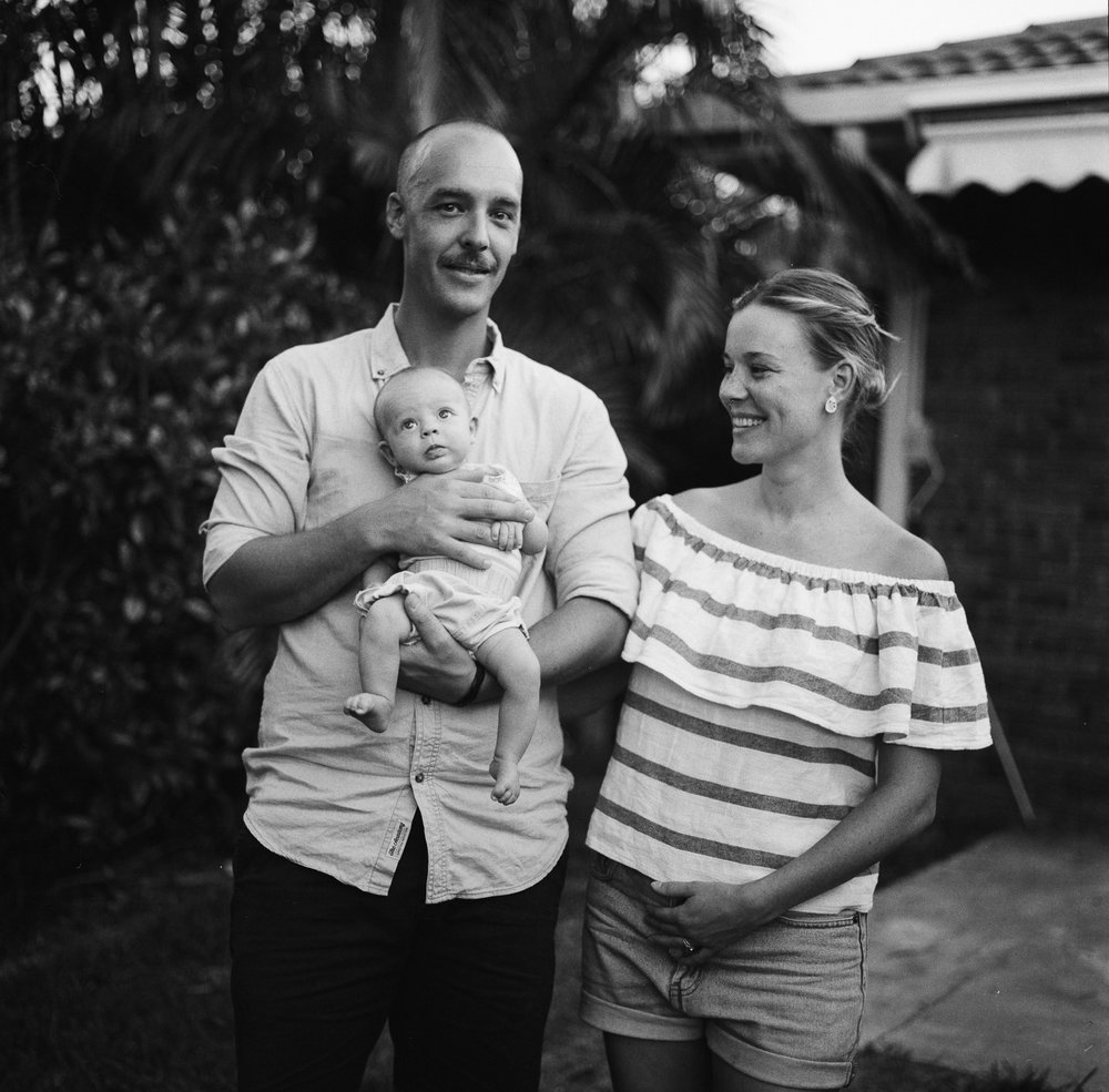 One of my best friends Genevieve, her husband Justin and their few month year old Juno.