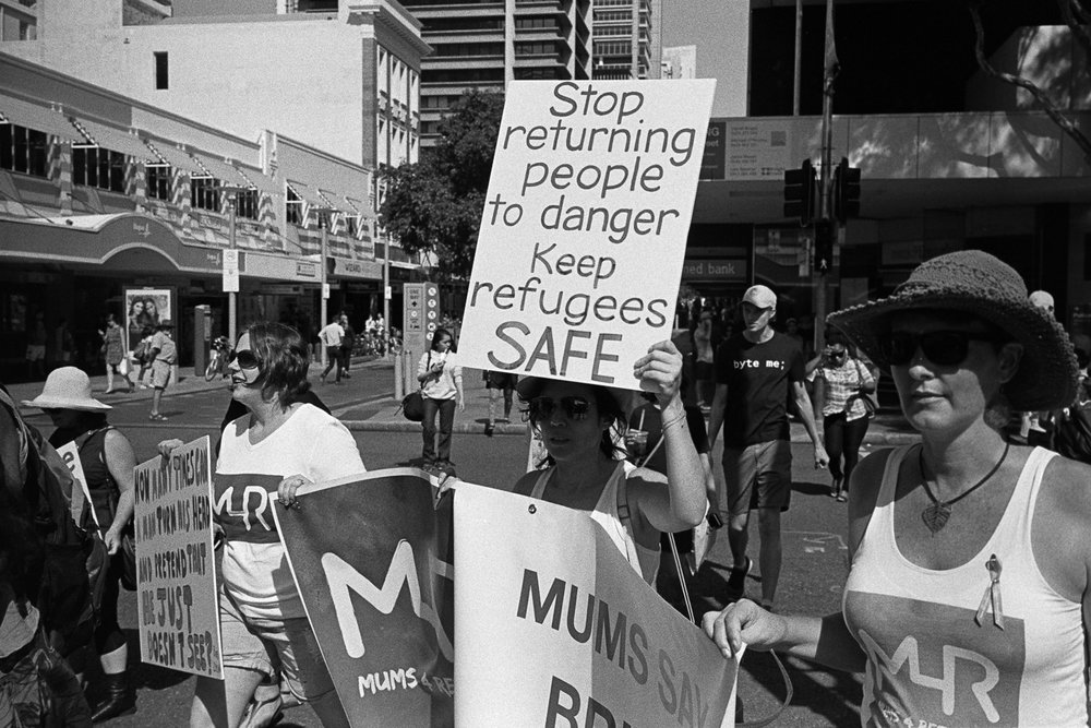 Rallies in Brisbane CBD.