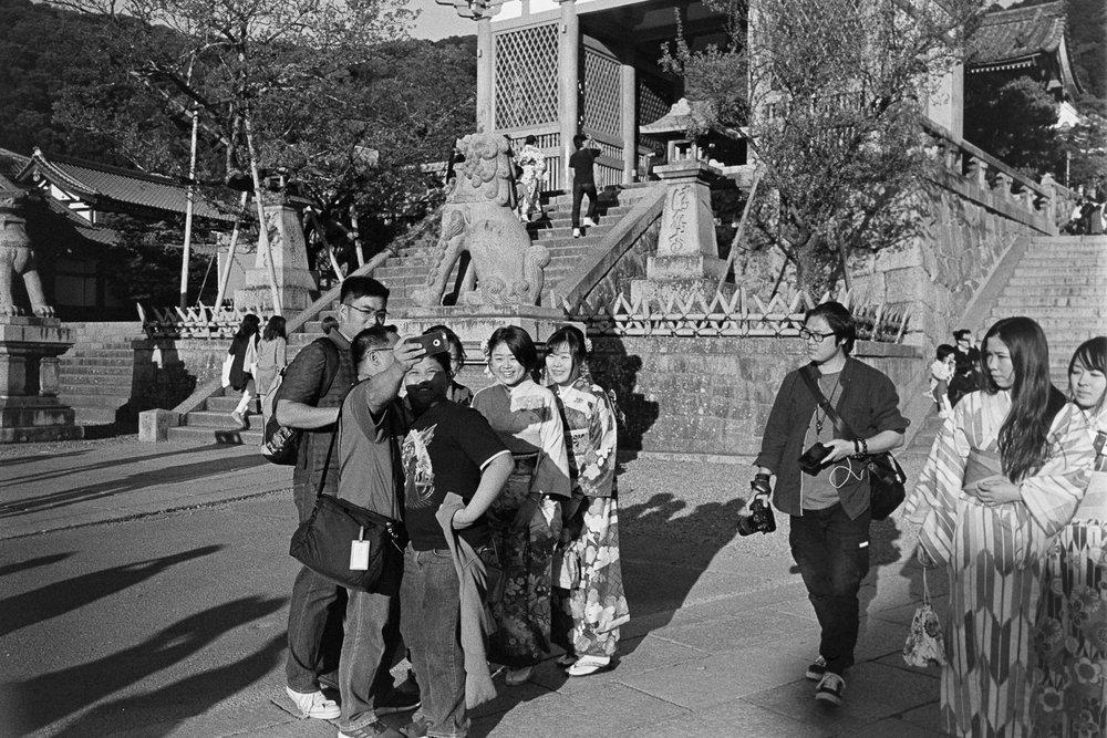 At Kiyomizu-dera Temple.