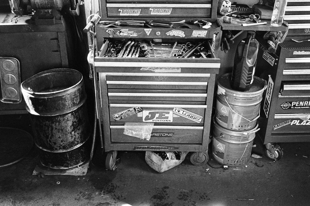 Mechanic's workshop.