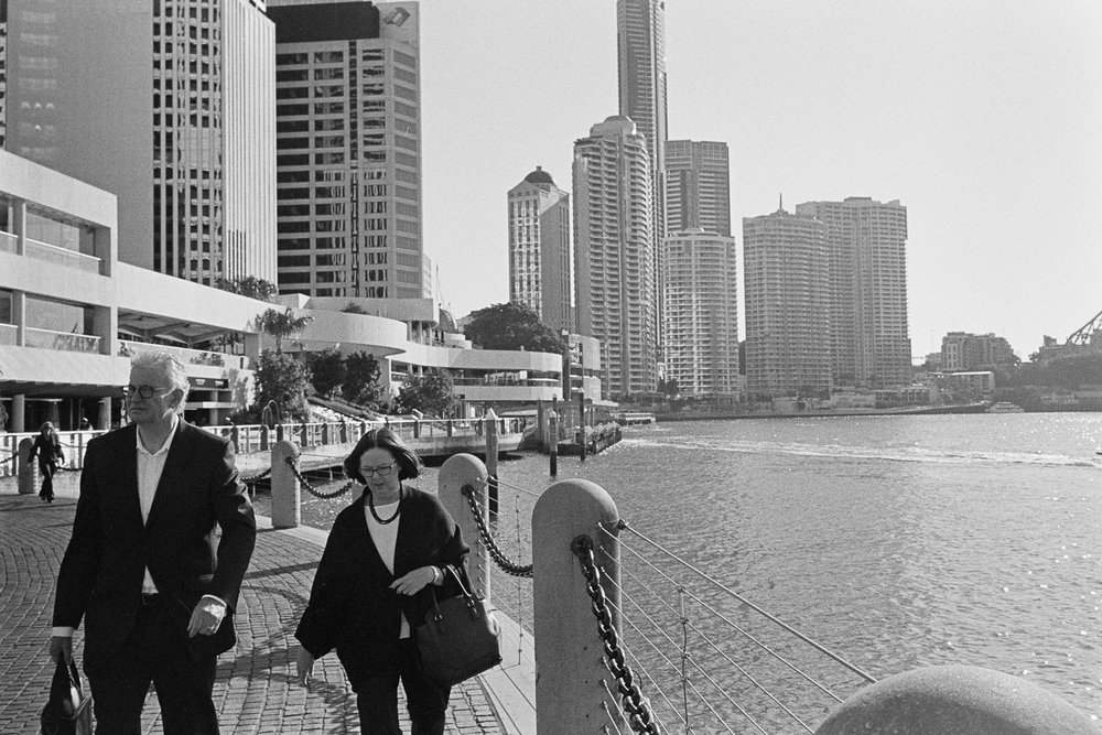 Eagle Street Pier on film.