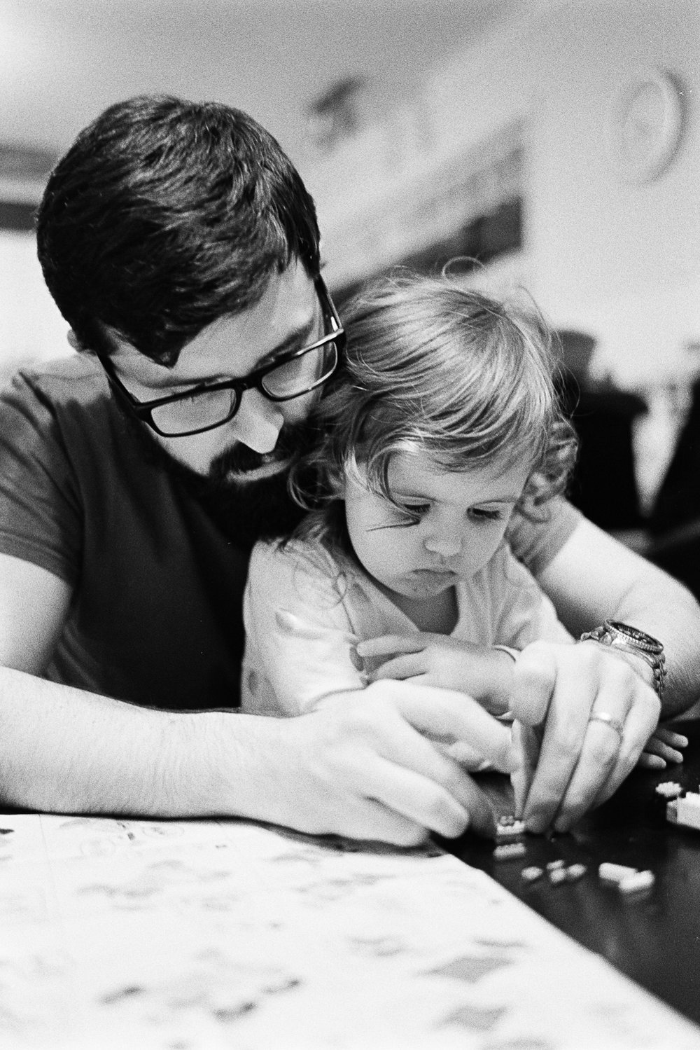 Building stuff with dad.
