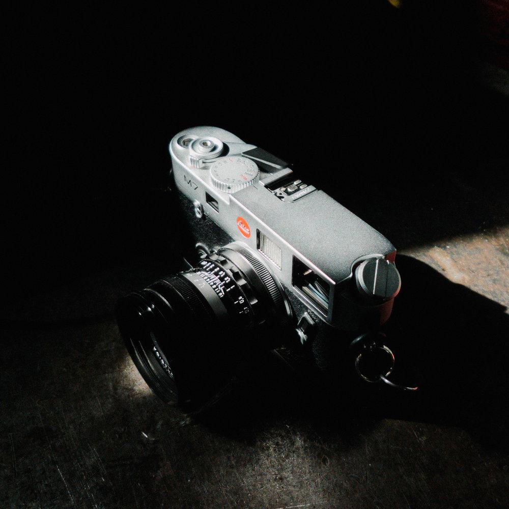 Leica M7 rangefinder with 35mm Voigtländer F1.7 Ultron Apsh