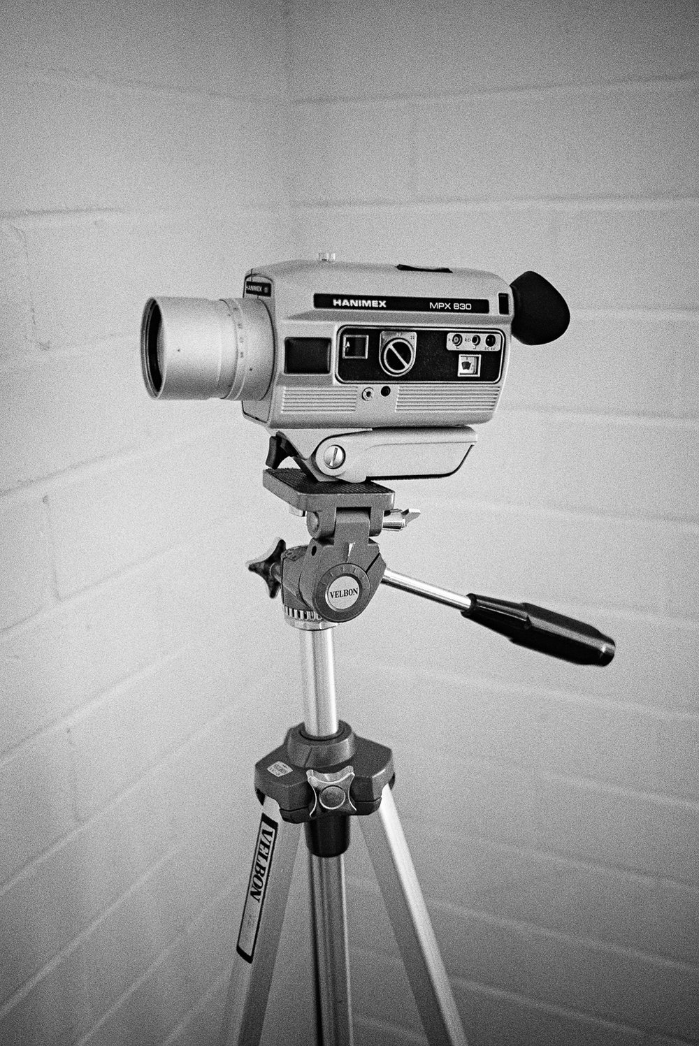 Tyler's Hanimex 8mm motion picture film camera.