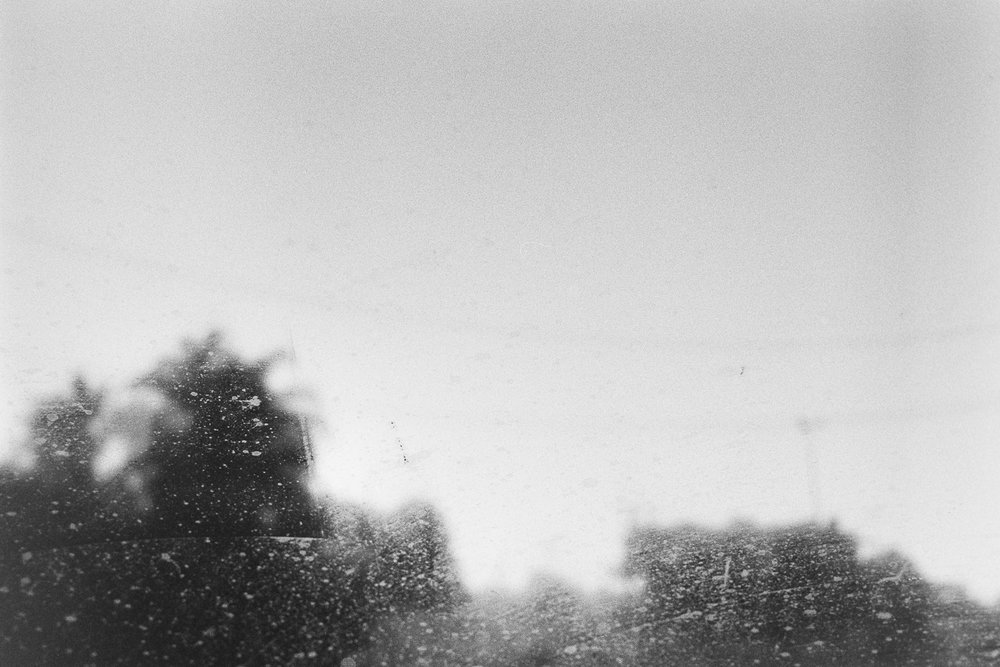 Winter car windows.