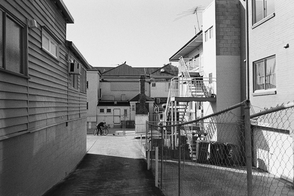 20170626 - Roll 142 - 024-Nick-Bedford,-Photographer-Black and White, Brisbane, Film, Ilford HP5 PLUS, Leica M7, Street Photography, Voigtlander 35mm F1.7 Ultron Asph, West End.jpg