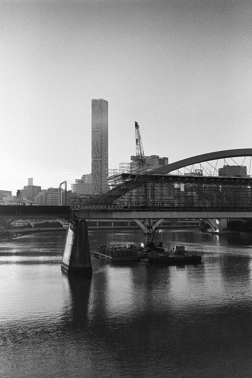 The Merivale Rail Bridge once again.