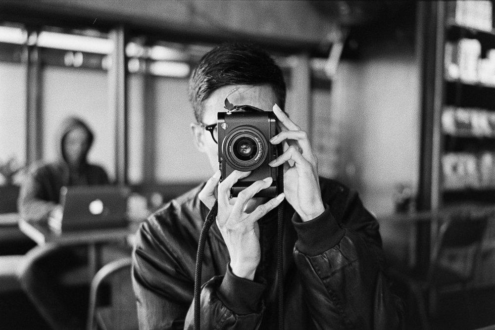 Chris with Simon's Leica Q.