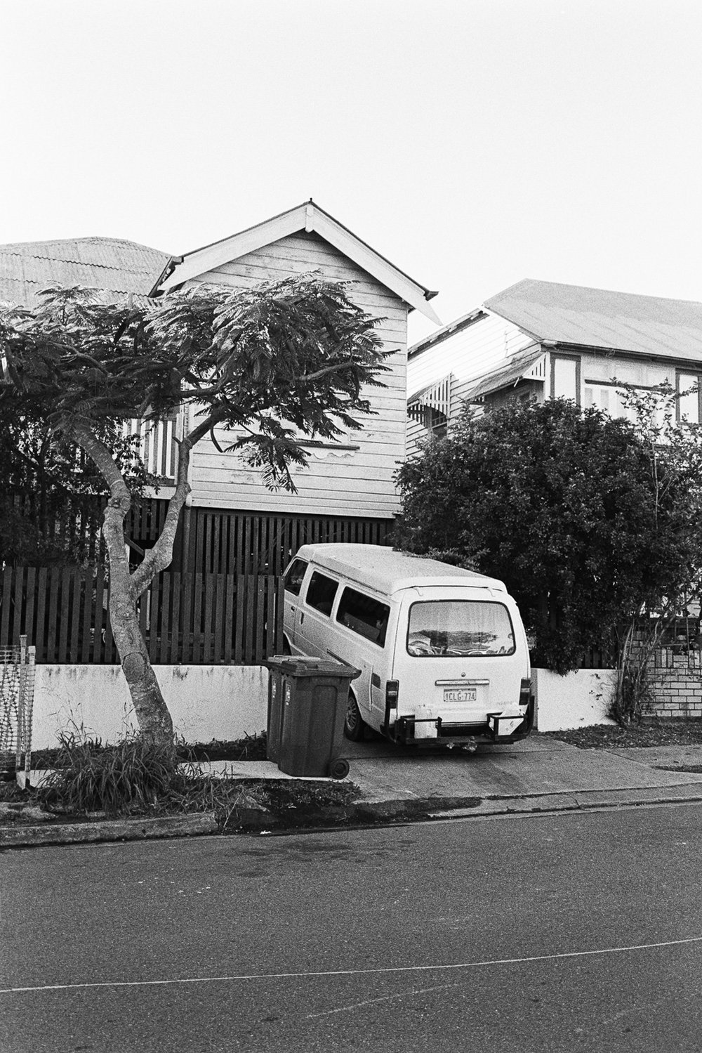 West End driveway.