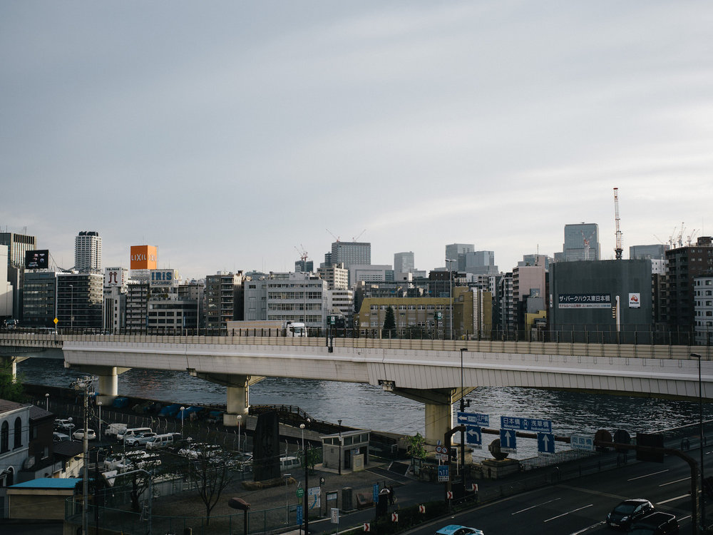 Across the Sumida river from our AirBnB apartment.
