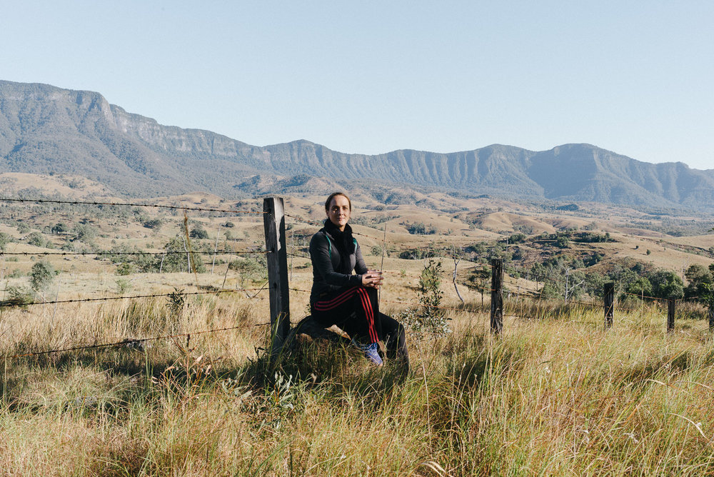 Mountain range portrait.