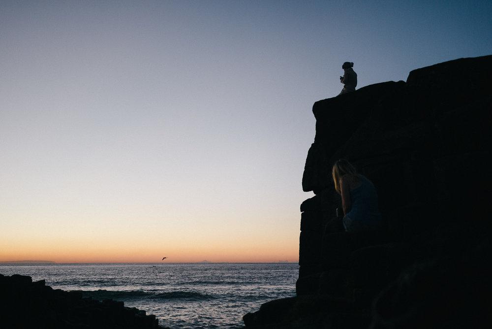 Enjoying first light on the cliffs.
