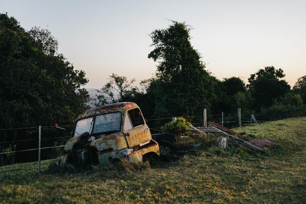 Derelict truck on Mount Mee.