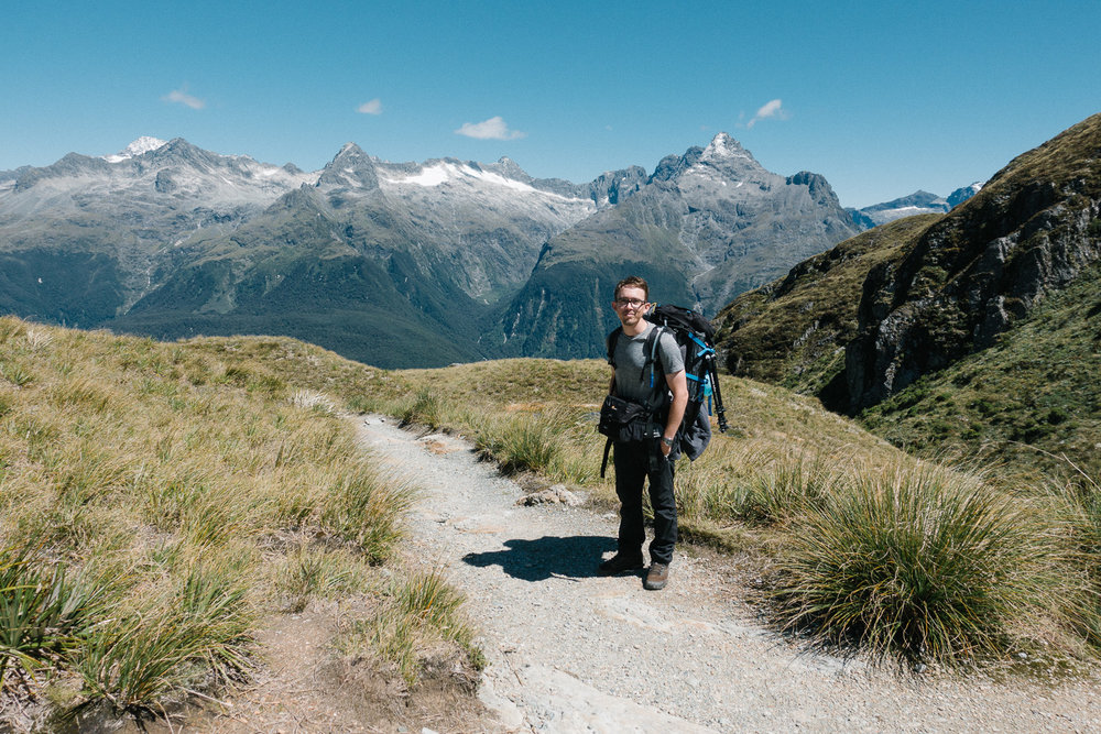 About to embark on the second half of the Harris Saddle section of Routeburn Track, along to Lake Mackenzie.