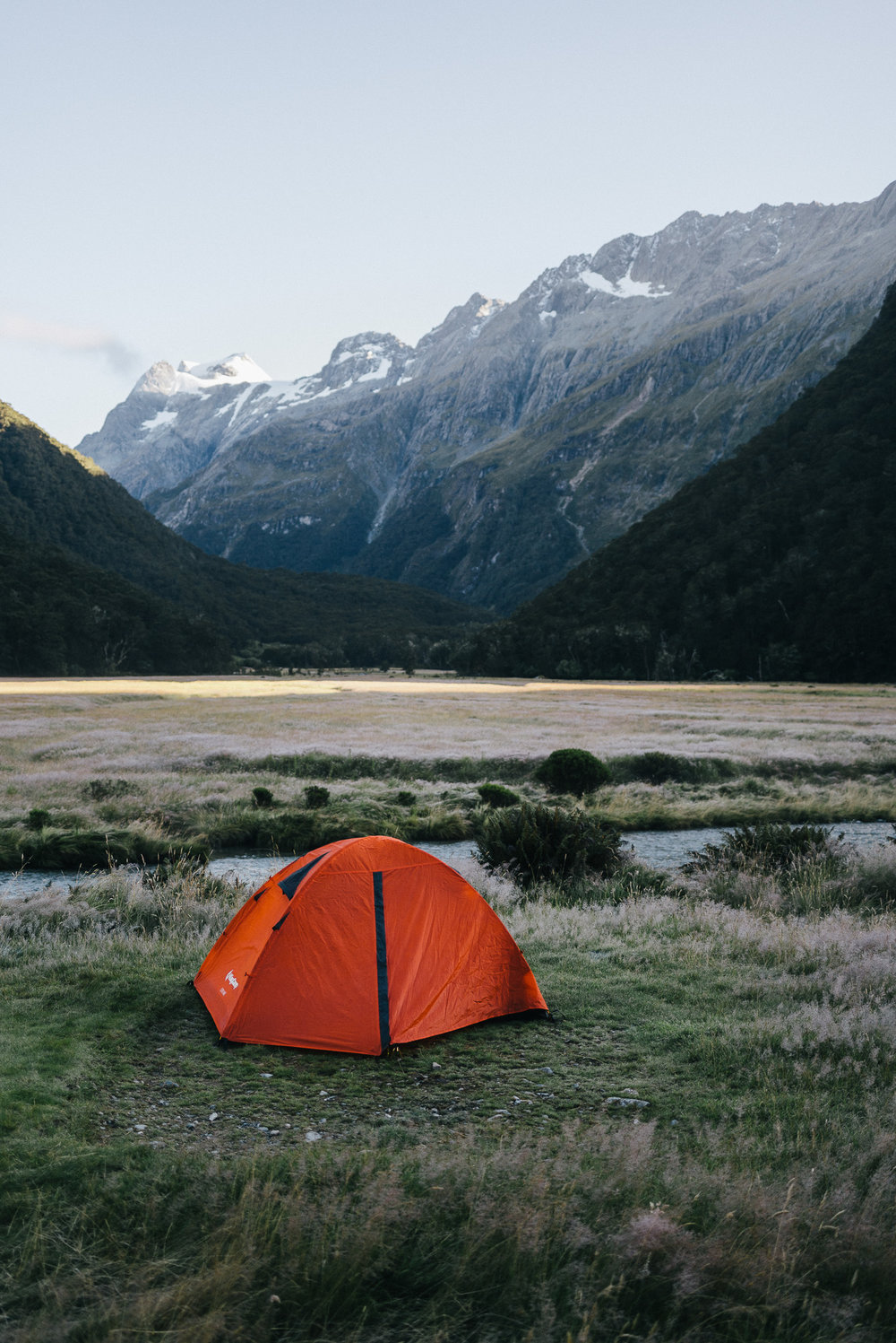 Campsite at Routeburn Flats.