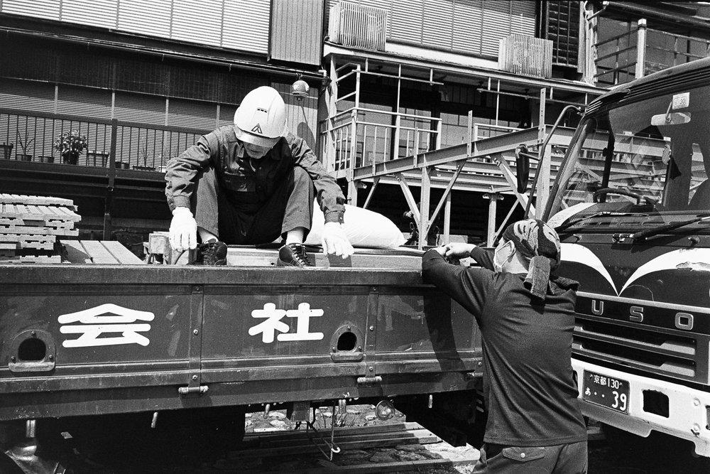 Kamo River Construction, Kyoto 2017 — Leica M7, Voigtländer 35mm F1.7, Kodak TX400