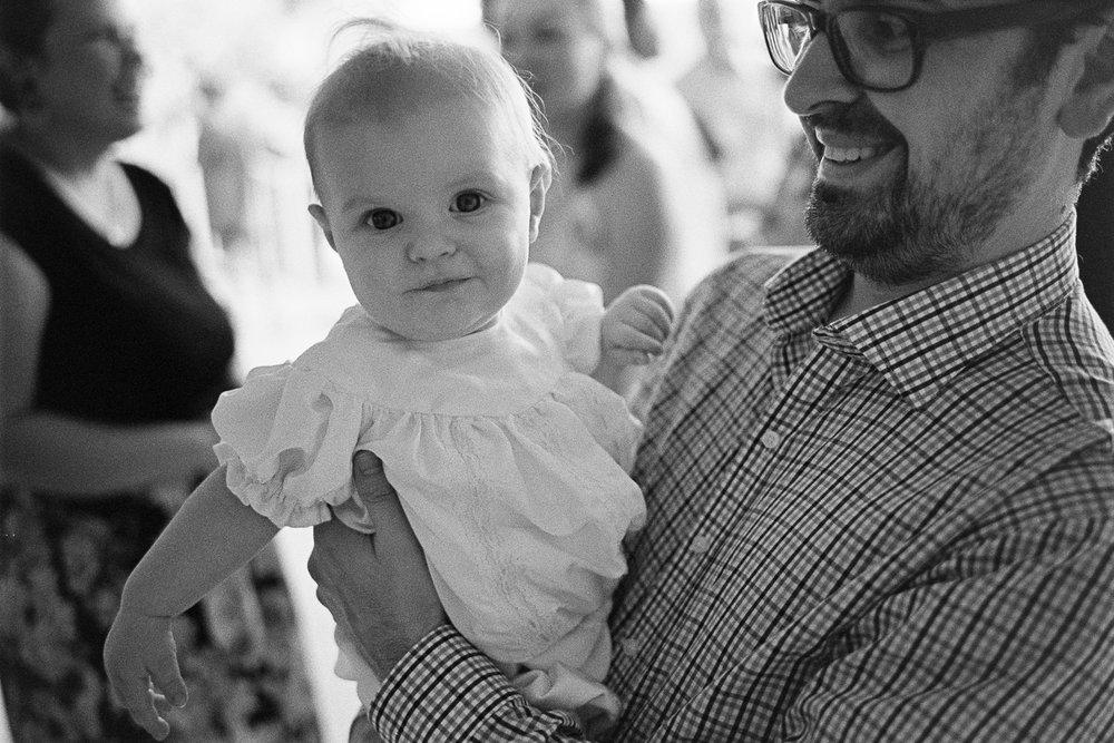 Evan Dash before being baptised.