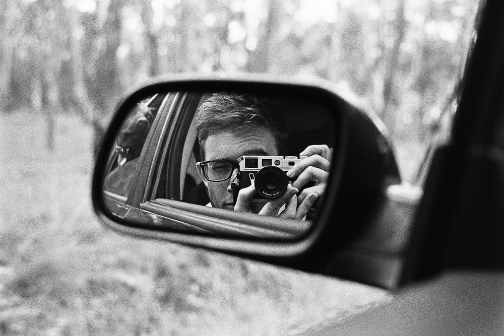 Passenger selfie.