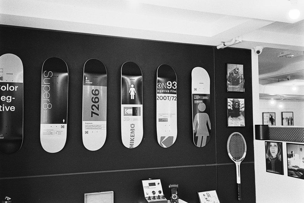 Kodak skateboards in rich technicolor...