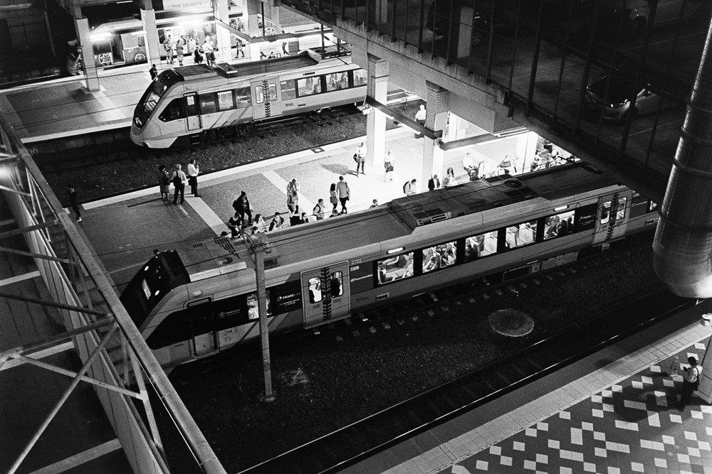 Model trains.