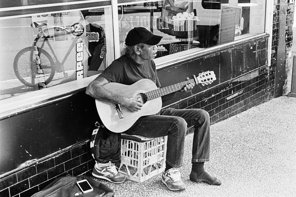 West End busker.