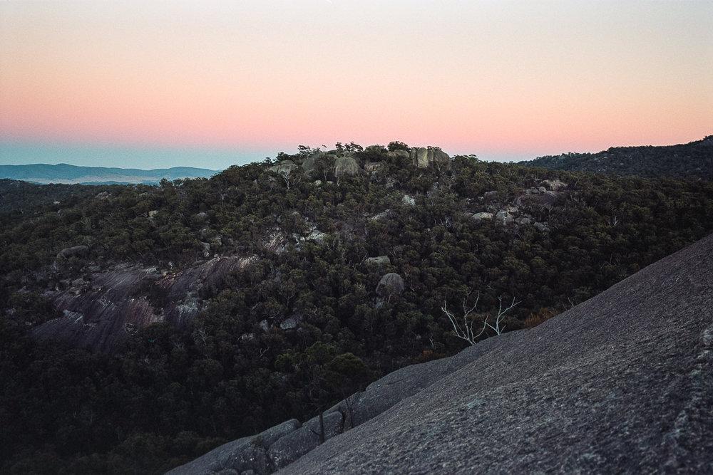 Waiting for sunrise on Pyramid Rock.