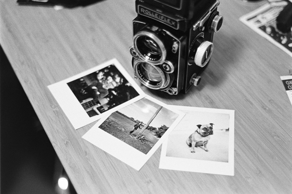 "Self-printed ""Polaroids""."