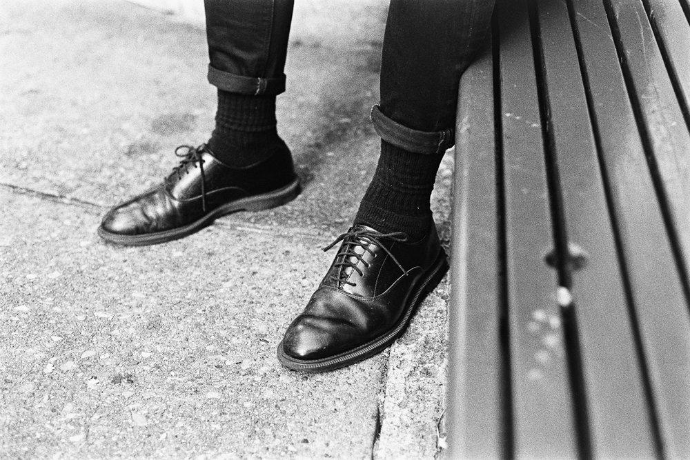 Need a shoe shine.