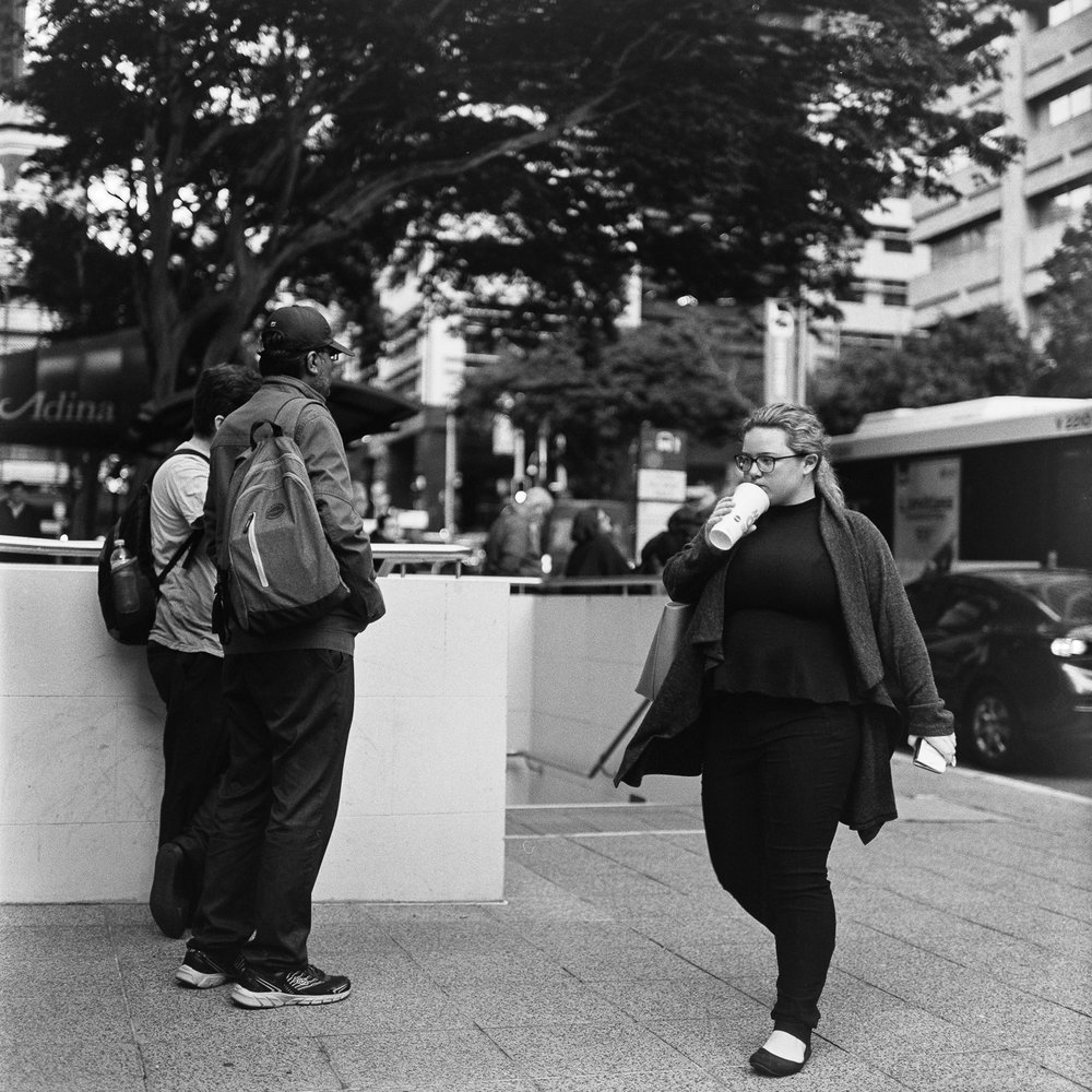 Shooting some Ilford HP5+ on the streets with the Rolleiflex.