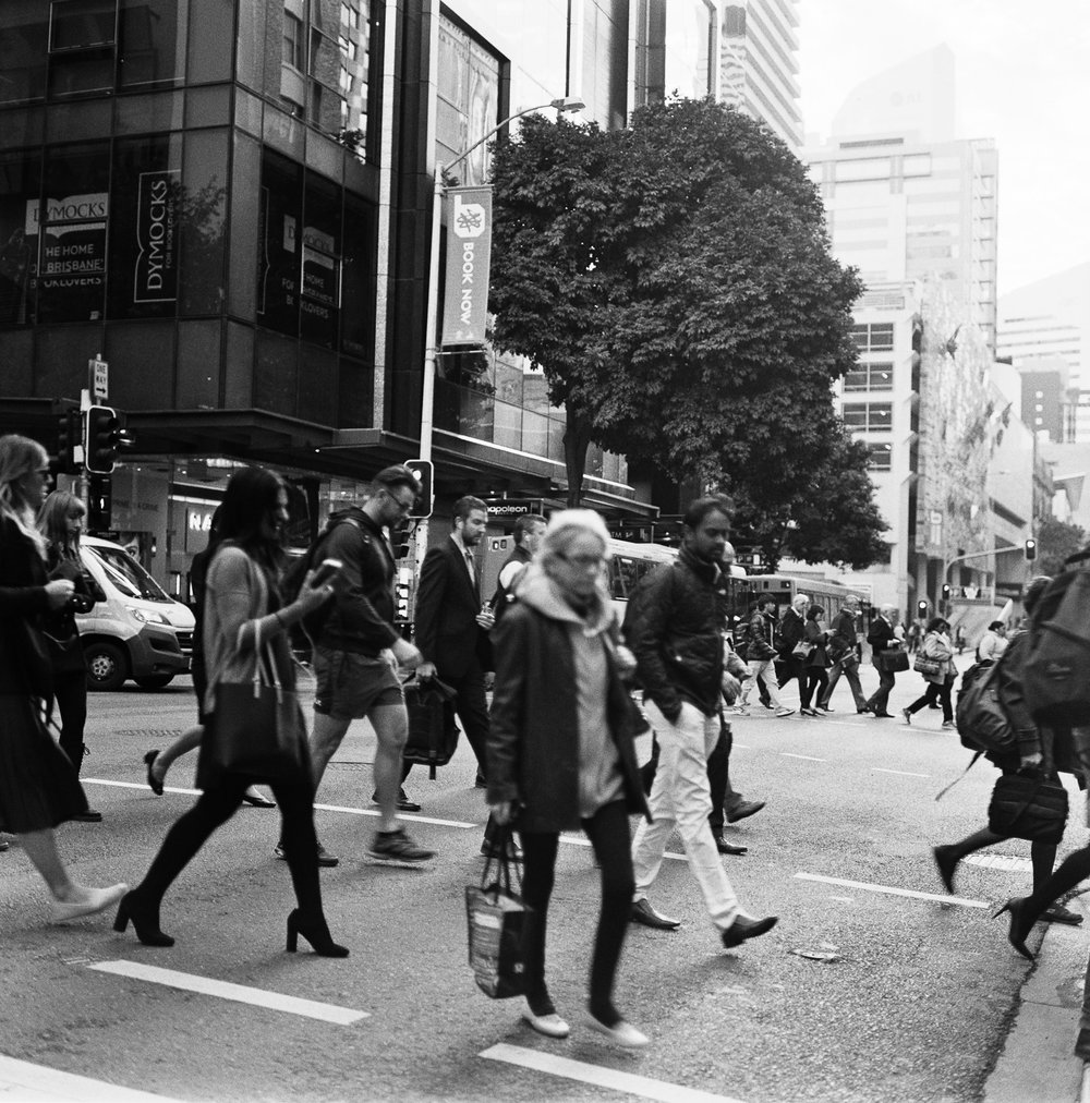 Rolleiflexes aren't the best for quick street action.