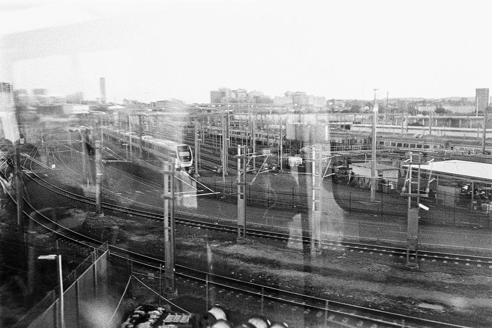 Train yards.