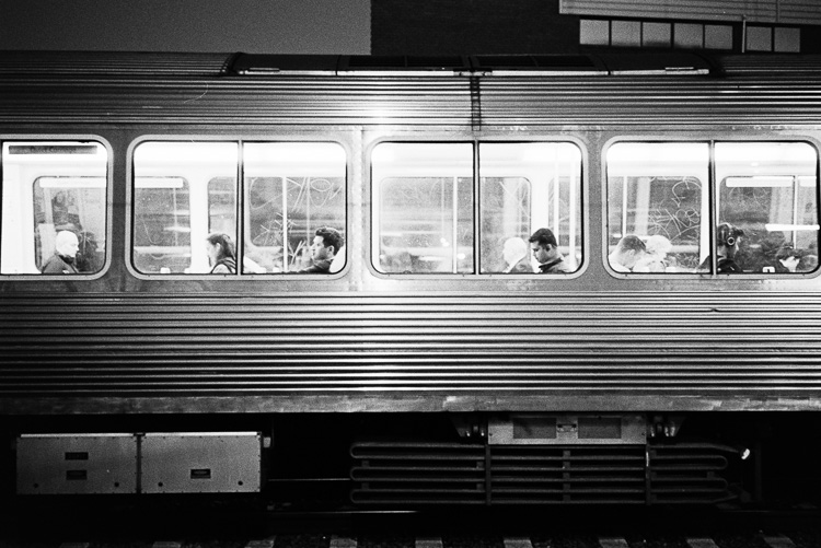 All aboard the commute train.