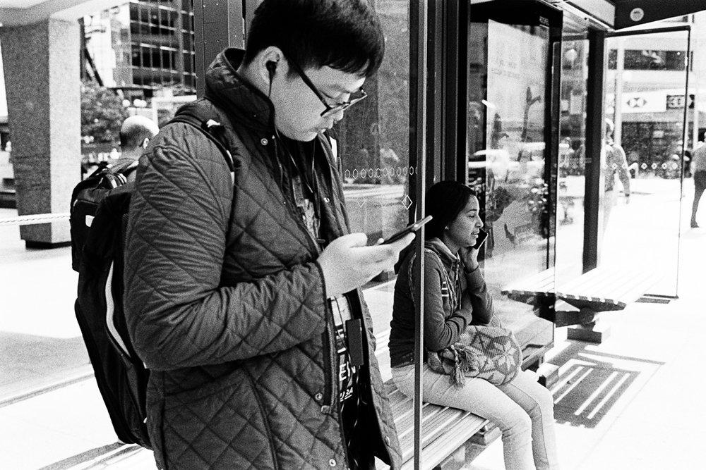 People on their phones, volume 334.