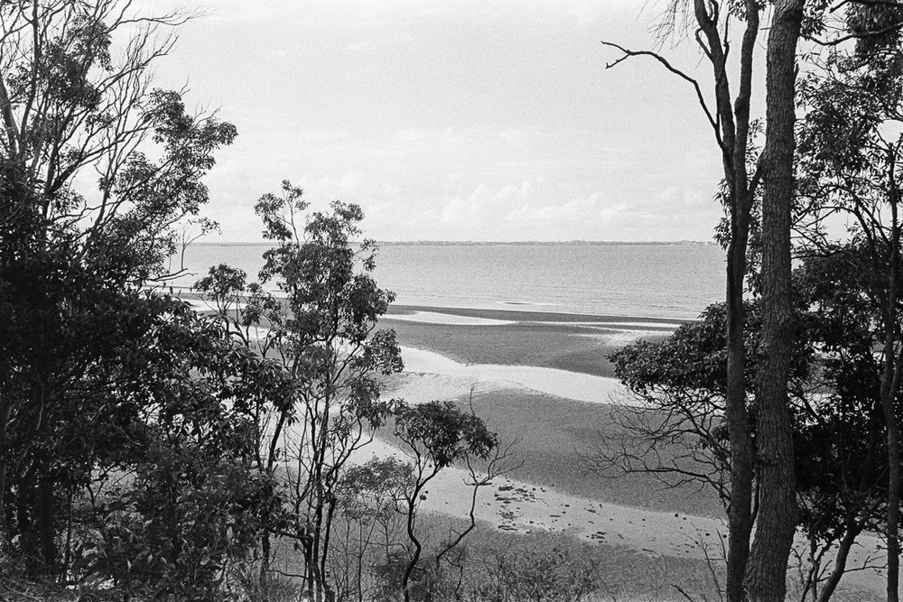Overlooking Moreton Bay.