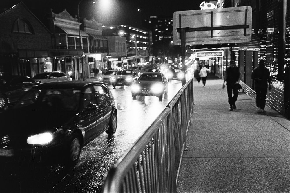 Rain and night on Tri-X