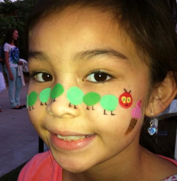 Hungry Caterpillar Face Paint
