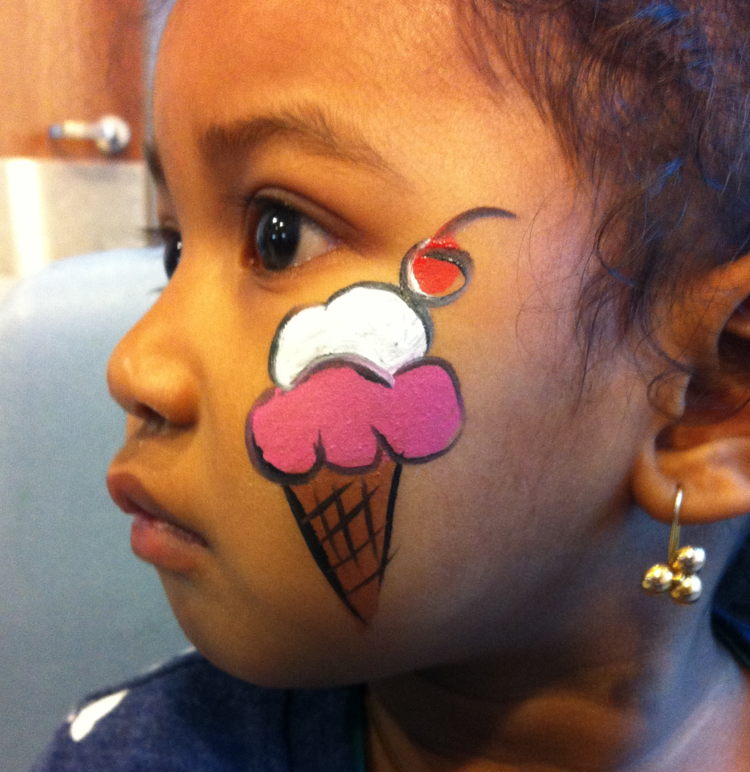 Fancy Nancy Freckles Face Painting - Simple face painting