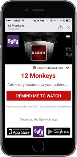 12 Monkeys SmartCalpage