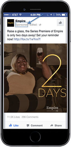 FOX promoted daily countdown posts that led up to the premiere of the show Empire