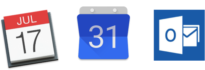 iCal                            Google Calendar                    Microsoft Outlook