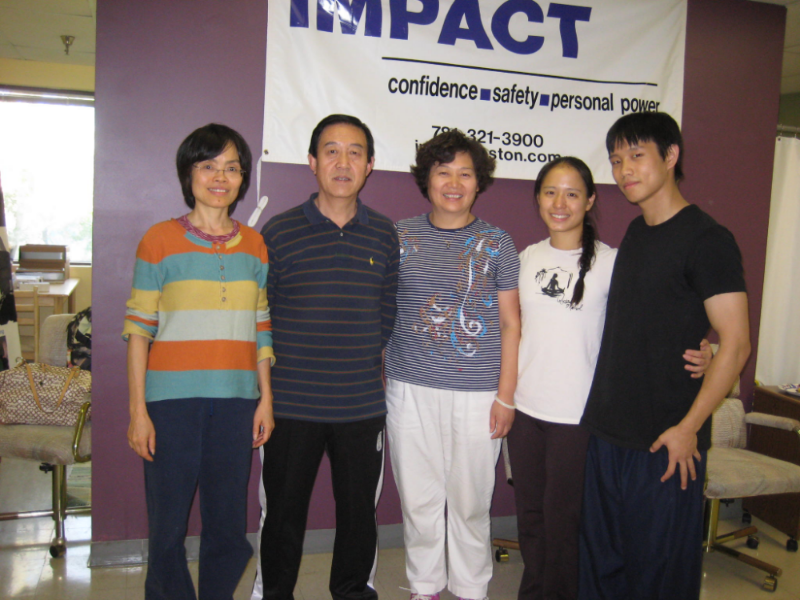 Instructor Lee with his Chen Style teachers Instructor Wei Li (Far Left) and Grandmaster Chen Zhenglei (Second from Left)