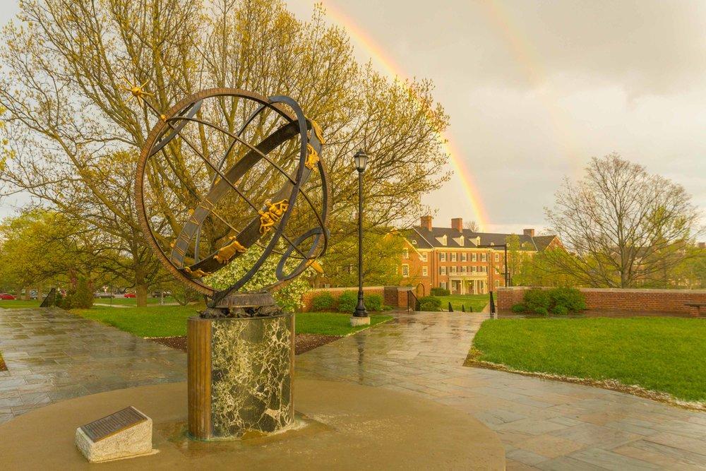 Sundial Double Rainbow