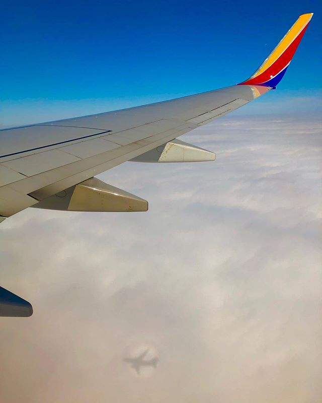 Love when a glory (rainbow circle) is visible especially on a beautiful @southwestair flight. #wingletwednesday #swapjc #swa #southwestairlines #southwest #swa
