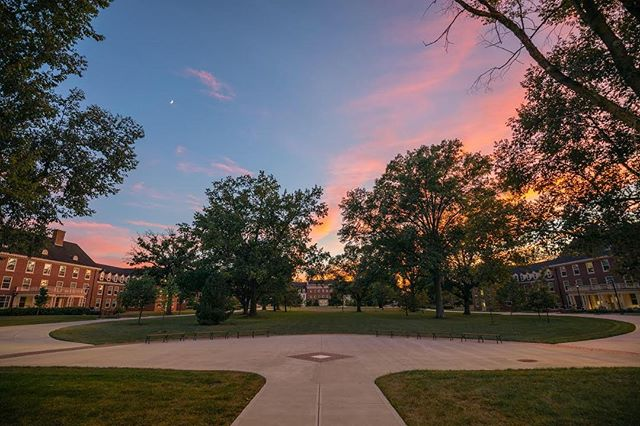 New quad, still these beautiful sunsets. #miamioh