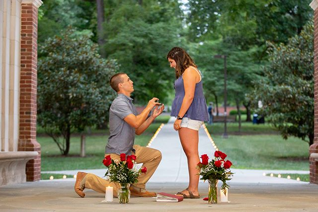 Congrats to Maddy and Nick on their engagement! A soon to me #miamimerger #miamioh #loveandhonor