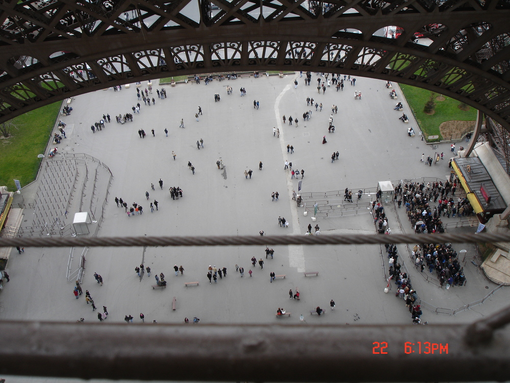 Long Line at the Eiffel Tower